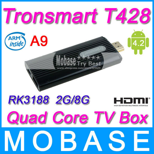 Tronsmart T428 Quad Core TV Box Android 4.2 Jelly Bean Mini PC RK3188 Cortex-A9 1.8GHz 2G/8G Broadcom AP6330 Bluetooth WiFi HDMI