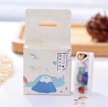 1Box New 1.5CM Wide Novelty Japan Journey Washi Tape Adhesive Tape DIY Scrapbooking Sticker Label Masking Tape H1135