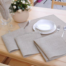 Free Shipping 10PC High Quality Non Embroidered Linen Napkins Wedding Supplies Decoration Home Accessories(China (Mainland))