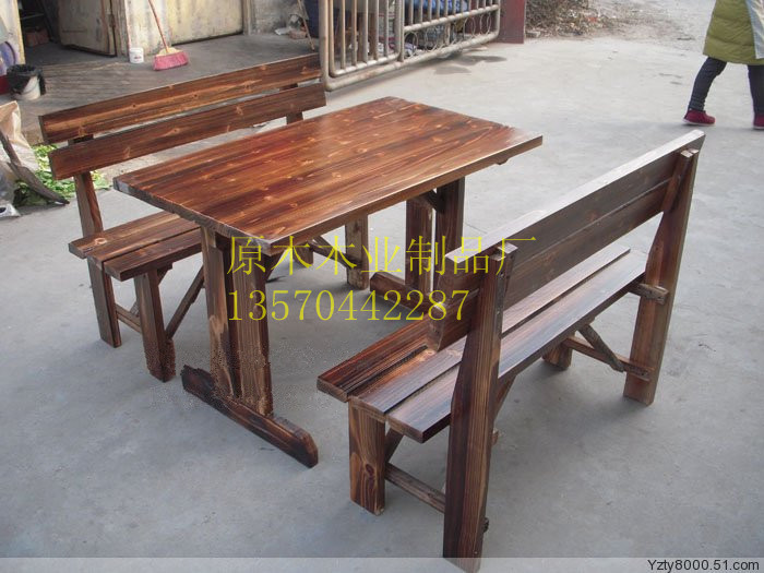 Charring wood dining table and chairs Bar barbecue beer tables<br><br>Aliexpress