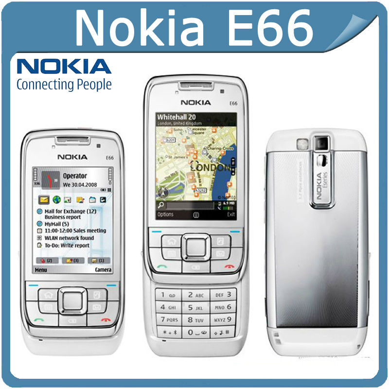 E66 Original Nokia E66 Mobile Phones 3G WIFI GPS Bluetooth JAVA Unlock Cell Phone Free Shipping In Stock(China (Mainland))