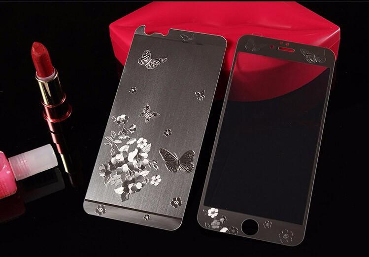 Здесь можно купить  20pcs3D Dragon Butterfly pattern color plating front + back tempered glass For iPhone 5 5s  Screen Protector protective film  Телефоны и Телекоммуникации