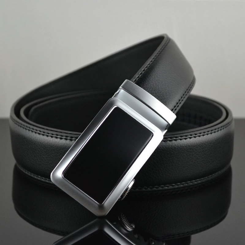Belt 2016 New Designer Automatic Buckle Cowhide Leather belt men 110cm 130cm Luxury belts for men