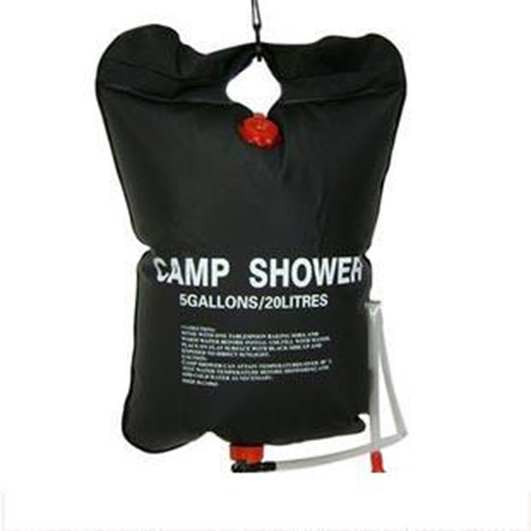 Portable Shower Bag : Portable outdoor camping solar shower bag water l