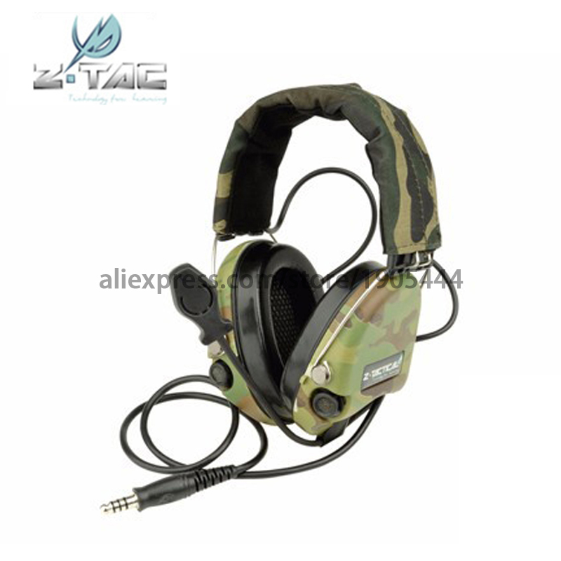Z111-Multicam)Earphone Element tactical zSordin Headset Camouflage Limited Edition new with Version anti-noise Tactical Headset