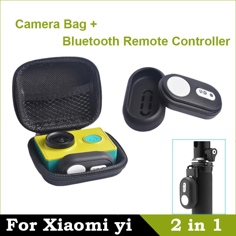 Bluetooth Remote Controller 4.1 For Xiaomi yi Remote Shutter For Xiaomi yi Camera Bag Case For Xiaomi yi Action Camera(China (Mainland))