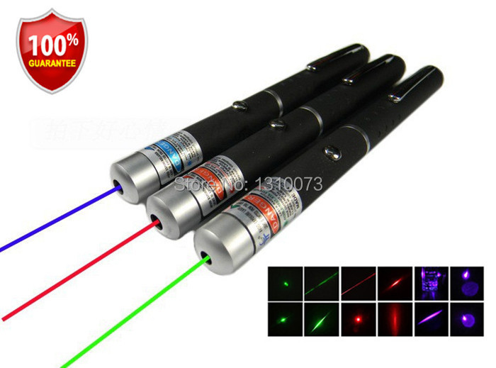 High Quality! 5mw Laser Pointer Green Red Blue Lasers Pen High Powered Presenter lazer 1pcs wholesale(China (Mainland))