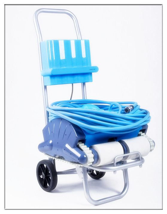 Robot Swimming Pool Cleaner With Wall Climbing+Remote Control++Spot Cleaning+Caddy cart+15m Cable+Area:100-200m2(China (Mainland))