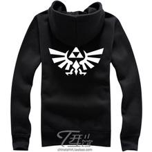 Sacred Triangle The Legend of Zelda Hoodie Anime Zipper Coat Jacket Sweatshirt(China (Mainland))