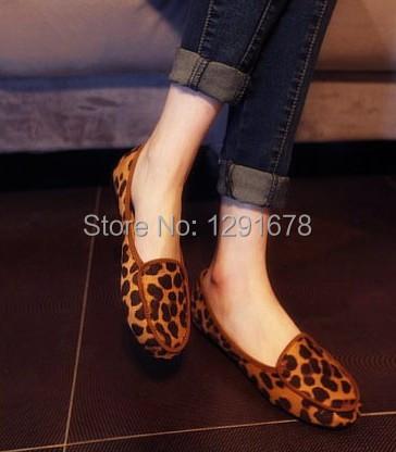 Женщина леопардовый обувь женщины квартиры обувь