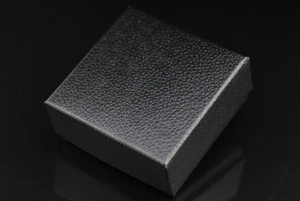 Size 7.3*7.3*3.5cm FUSSEM Wholesale Fake Copy Leather PU Black LOGO JewelryTop Quality Packaging Gift Box Hot Sale(China (Mainland))