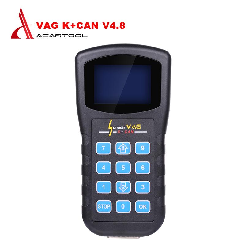 Super VAG K+CAN V4.8 Super VAG K CAN 4.8 Odometer Correction Tool Airbag Reset tool Key programmer For AUDI VW Skoda vag k can(China (Mainland))