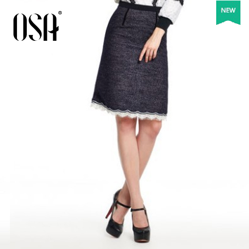 Big Promotion ! Plus Size OSA 2015 New Fashion Women Package Hip Short Skirts Lace Splicing High Waist Ladies Skirts SQ431023(China (Mainland))