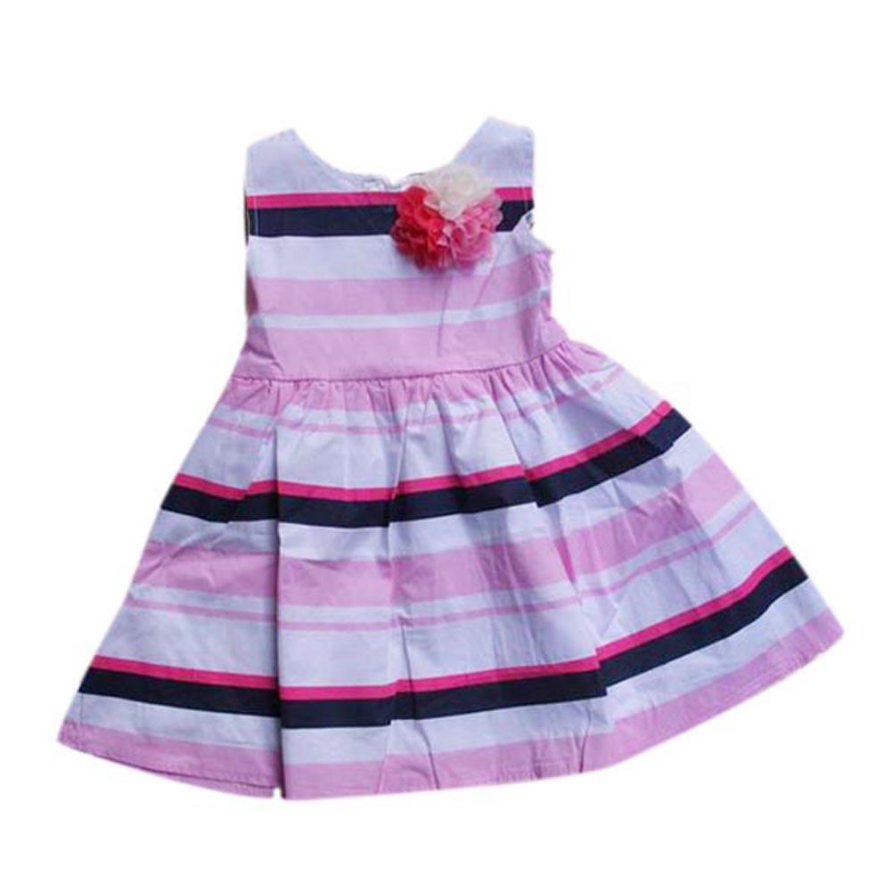 Kids Baby Sleeveless Striped Dress Toddler Girls Flower Tutu Sundress 2-7T(China (Mainland))
