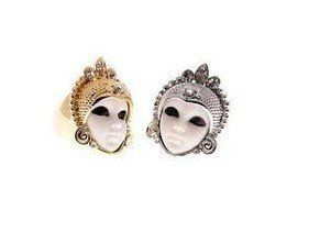 wholesale fashion vintage alloy ring  Golden Egyptian doll crystal ring Free shipping