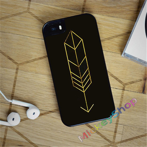 TORI KELLY BLACK FEATHER QUILL ARROW fashion case cover cover for iphone 4 4s 5 5s SE 5c for 6 & 6 plus 6S & 6S plus #CD552(China (Mainland))