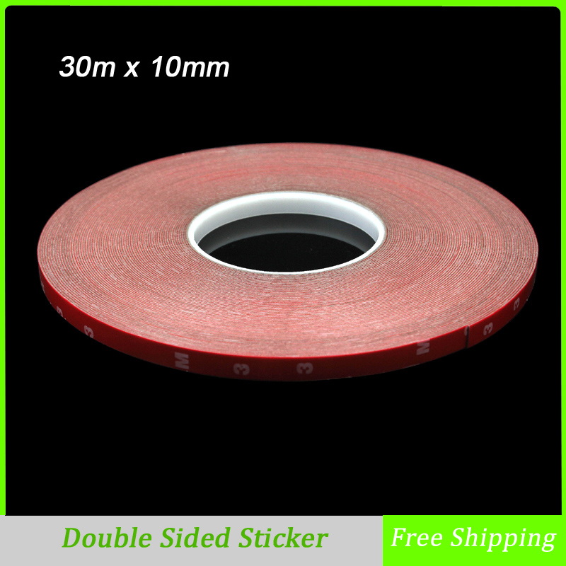 buy 30m x 10mm double sided tape acrylic foam adhesive car interior exterior. Black Bedroom Furniture Sets. Home Design Ideas