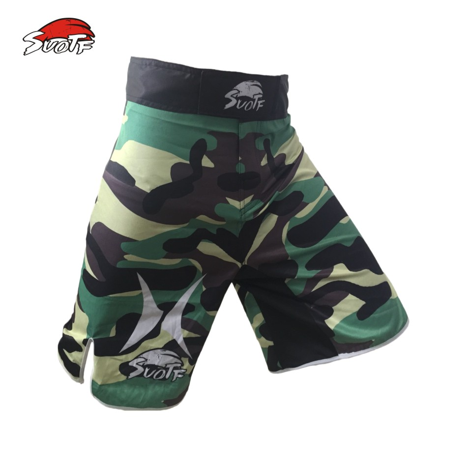 MMA three color camouflage breathable cotton boxing personality training special shorts mma fight shorts muay thai boxing mma(China (Mainland))