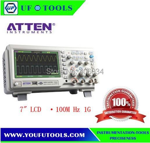 ATTEN ADS1102CAL 7 LCD 100MHz 1G 2Channel Digital Storage Oscilloscope<br><br>Aliexpress