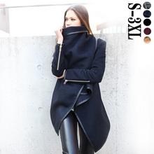 2015 Women Trench Coats Long Cashmere Overcoats Trench Desigual Down Jackets Designer Woman Wool Coats Fur Manteau Abrigos Mujer(China (Mainland))