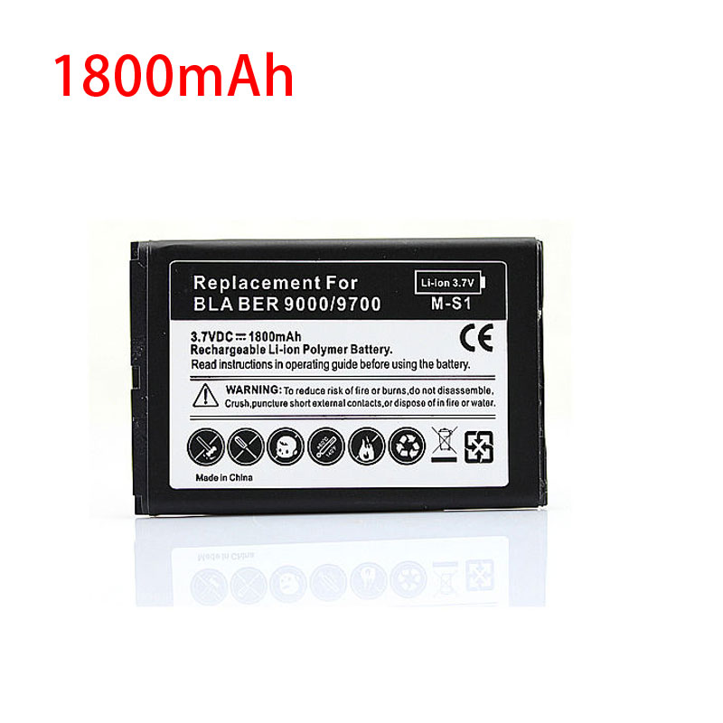 Battery For Blackberry Bold 9000 9700 9780 Replacement Rechargeable 1800mah Mobile Cell Phone batteria(China (Mainland))