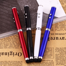 10pcs/lot Stylus 4 in 1 Laser Pointer LED Torch Touch Screen Stylus Ball Pen for iPhone for mobile phone Pad Brand Free Shipping(China (Mainland))