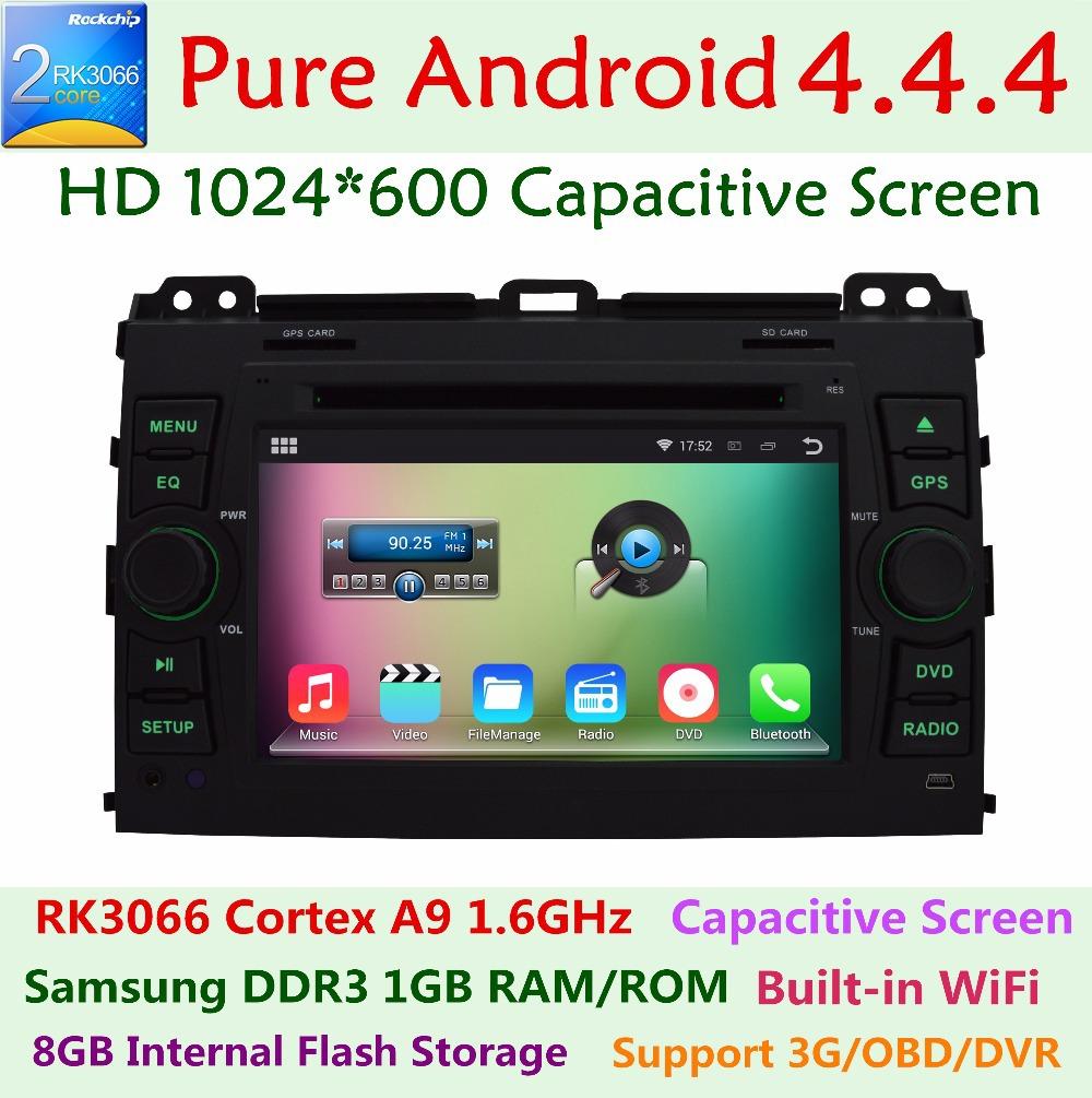 HD 1024*600 Android 4.4 Car DVD Player Toyota Prado Land Cruiser 120 2002-2009 Dual Core 1.6G CPU 3G WIFI Radio GPS Navigation(China (Mainland))