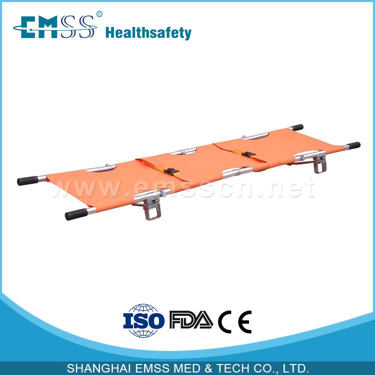 Medical Aluminum alloy four folding ambulance stretcher(China (Mainland))