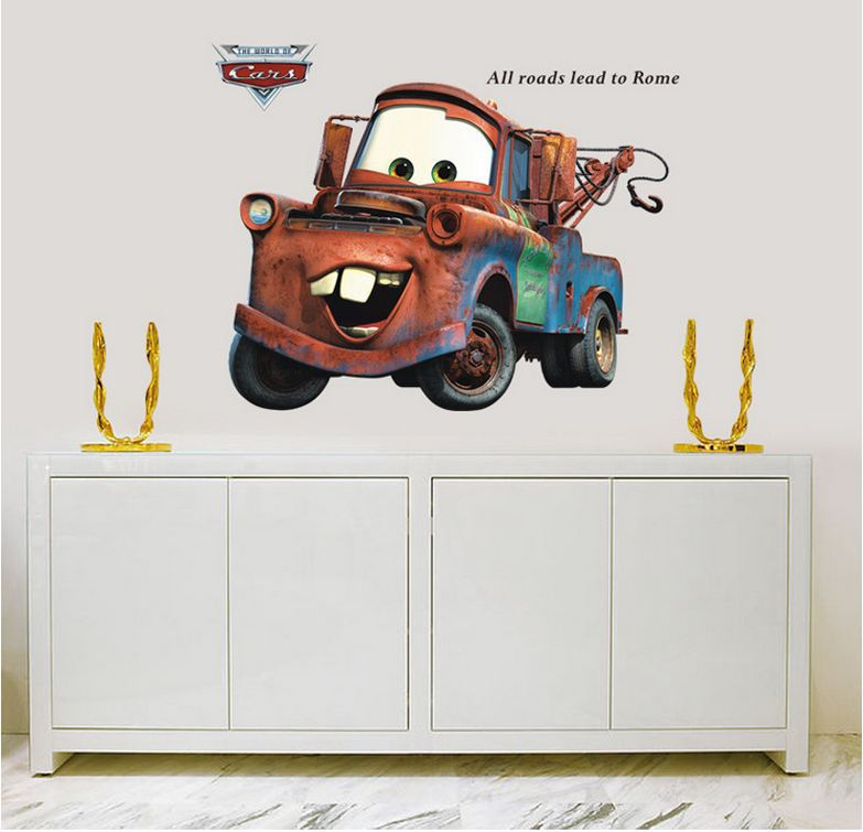 Cars plex good quality new extra large vinyl pixar car for Disney cars large wall mural