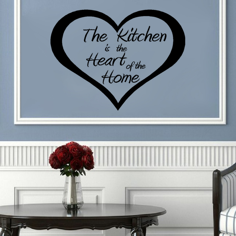 Wall Stickers For The Kitchen Wall Stickers Kitchen Heart Of The Home Decor  Art Kitchen