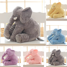 Buy 60cm Large Long Nose Elephant Baby Sleeping Pillow Soft Cushion Plush Stuffed Dolls Lumbar Pillow Animal Shaped Pillow Baby Toys for $19.80 in AliExpress store