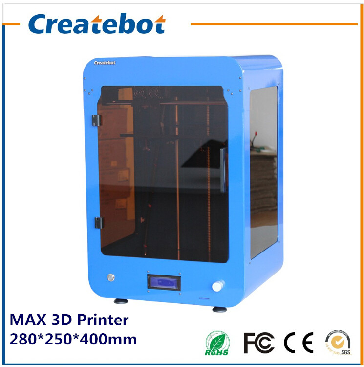 Free Shipping 2015 New Upgraded High Accuracy Createbot Max 3D Printer with Heatbed and Single Extruder