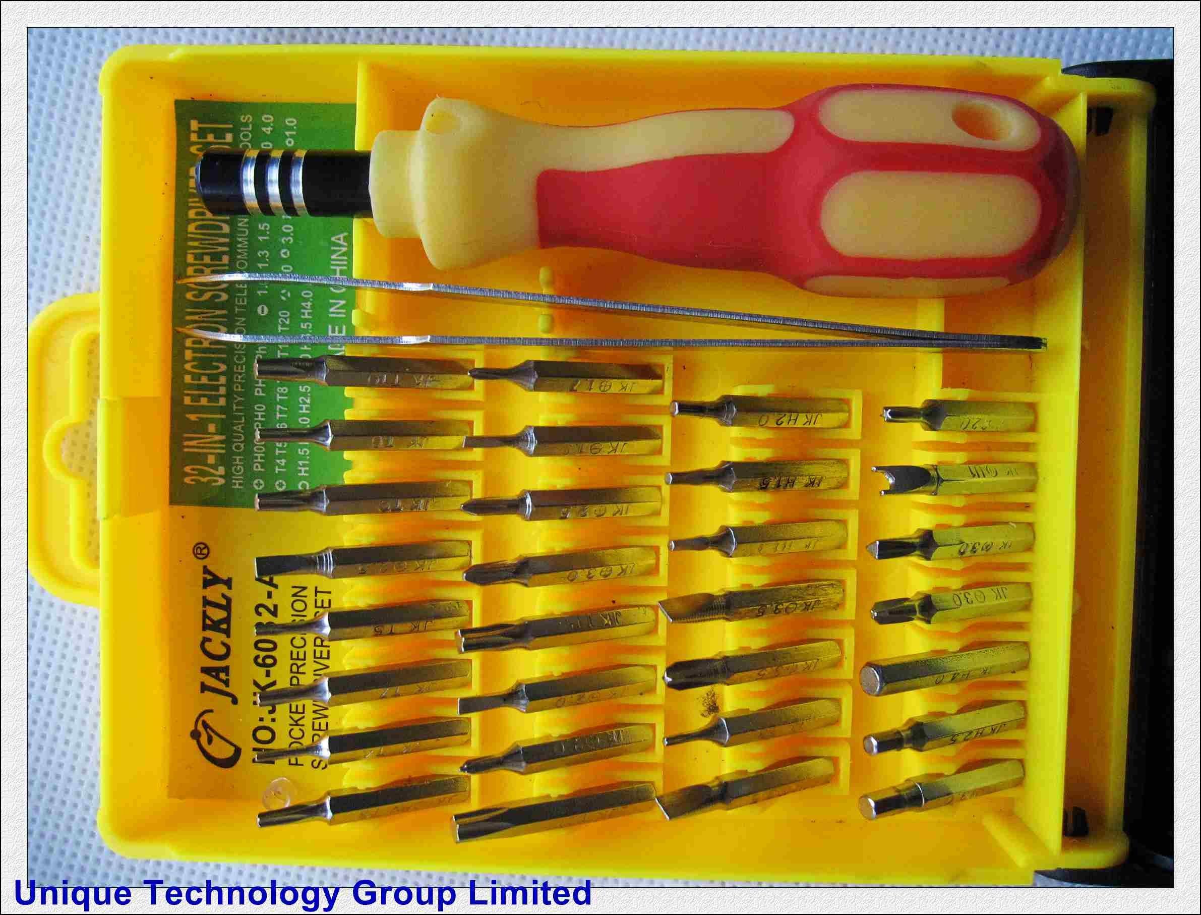 jackly 32 in 1 fix repair tool screwdriver ry225 jk 6032 a free shipping easy repair tool. Black Bedroom Furniture Sets. Home Design Ideas