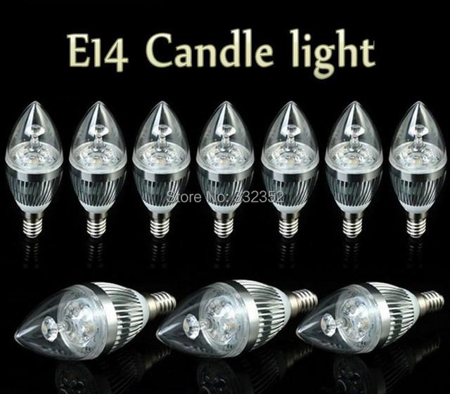 Free shipping High Power 10XE14 E27 E12 3X3W 9w 4x3W 12W 5X3W 15W Dimmable AC85~265V LED Candle Light LED bulb lamp spotLight