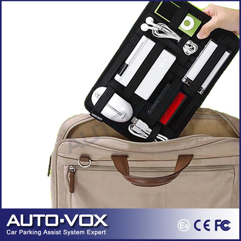 Car Multifunctional Sun Visor Storage Bag Cocoon Grid It Organizer Kit Black Storage Bag For Ipad Electronic Gadgets(China (Mainland))