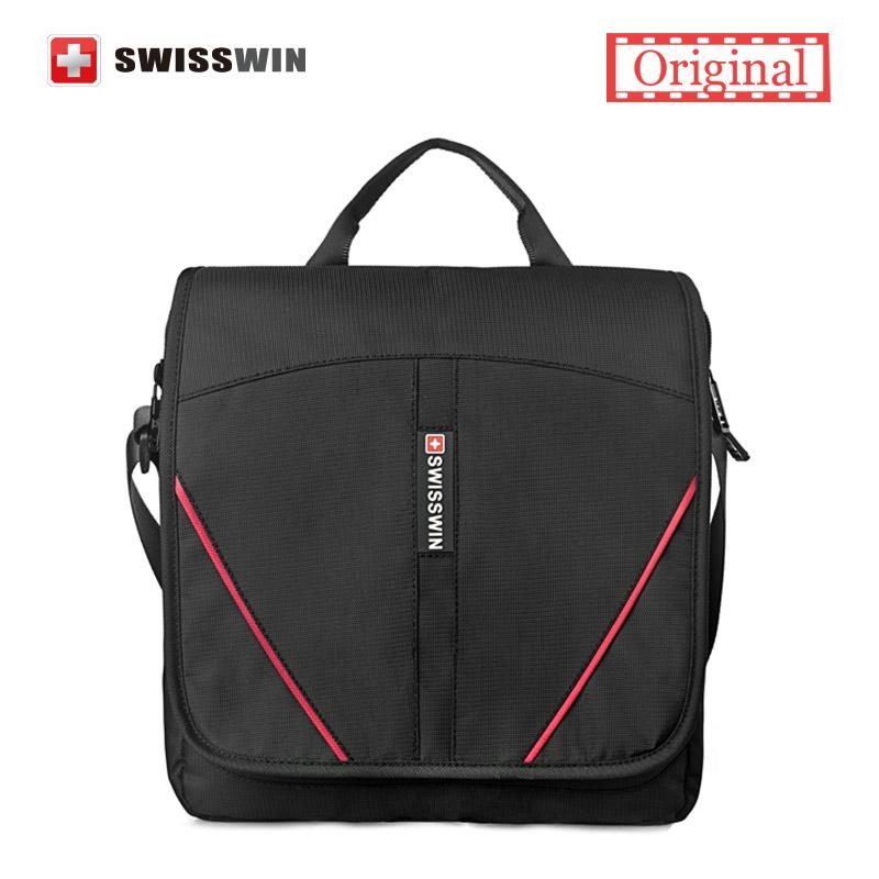SWISSWIN Men's Casual Messenger Bag Wenger swissgear Women Shoulder Bag Small Black Satchels waterproof shoulder bags(China (Mainland))