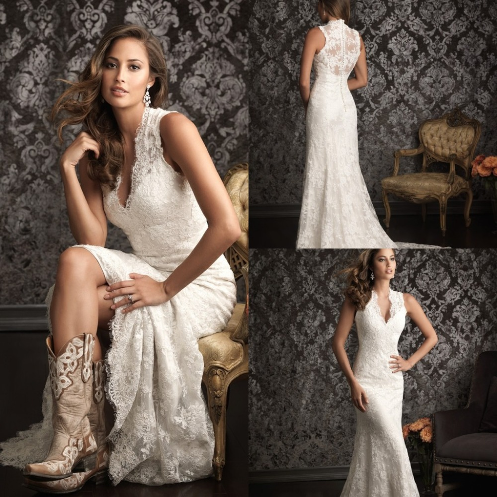 Western lace wedding dress - photo#1