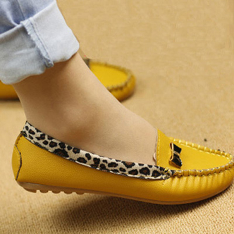 Spring Autumn Flats Women Flat heel Shoes Fashion Leopard Casual Soft Comfortable Loafers - Happy hour 100% store