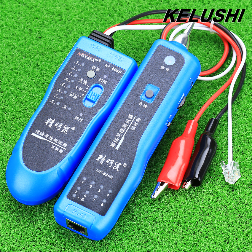 KELUSHI Network Tester Tool Network wire Cable Tester Line Tracker Telephone RJ11 RJ45 NF-806B fast shipping(China (Mainland))