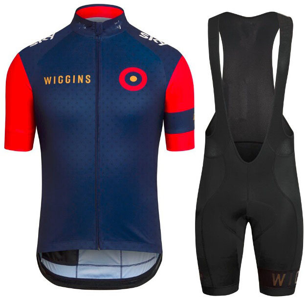 Wiggins Cycling Jersey 2015 pro team Sportswear / breathable bike Clothing Short sleeve + BiB Shorts Gel pad -3D(China (Mainland))