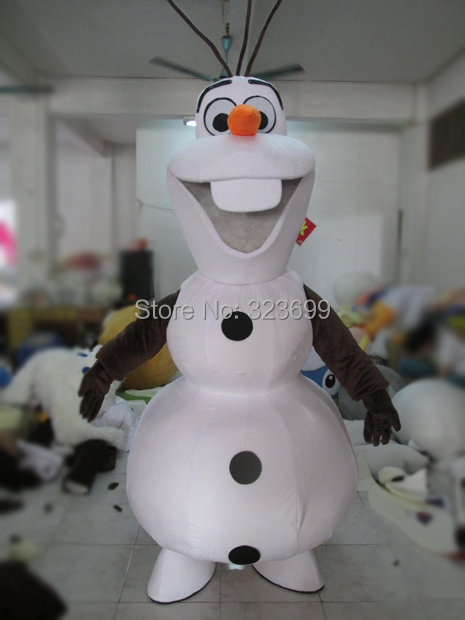Adult New Olaf Mascot Costume Snowman Clothing Christmas Party Suit(China (Mainland))
