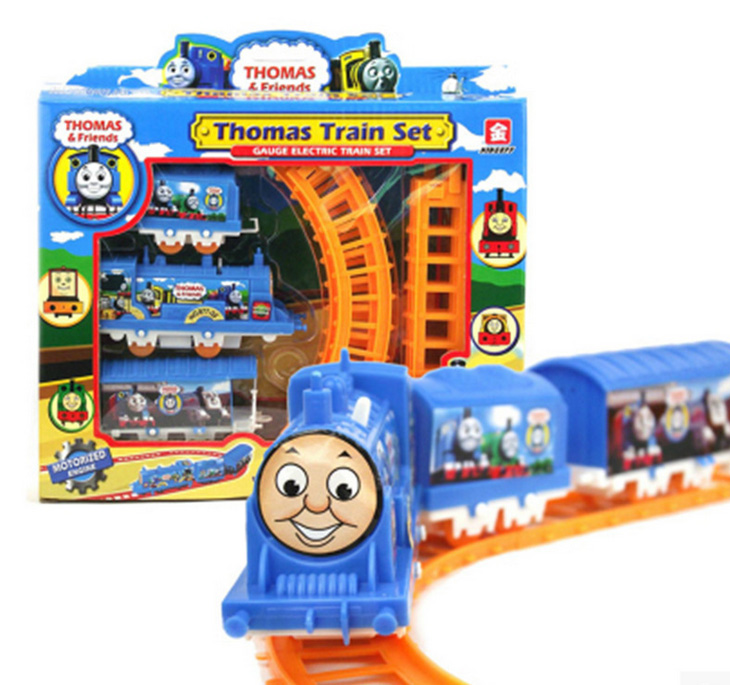 New Becky Thomas electric train eight rail cars kids toys for Educational classic toys lada brinquedos Children birthday gift(China (Mainland))