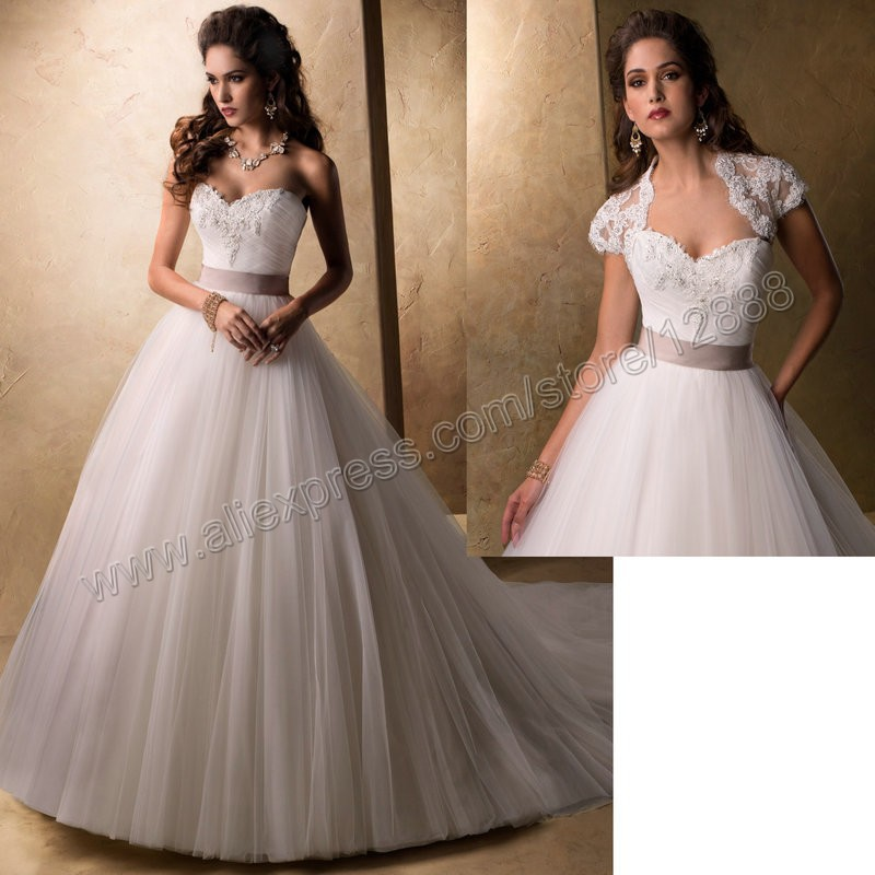 Ball gown with champagne sash wedding dresses ball gown for Champagne colored wedding dresses with sleeves