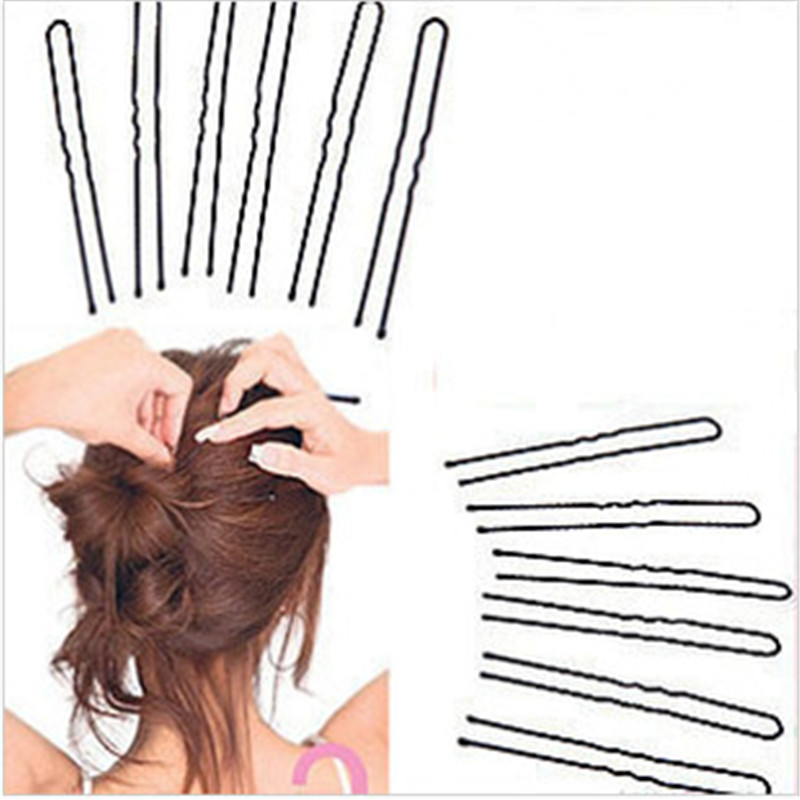 18pcs Black Metal Thin U Shape Hairpins Bobby Pin Clips Health Hair Care Beauty Styling Tools 6cm Free shipping(China (Mainland))