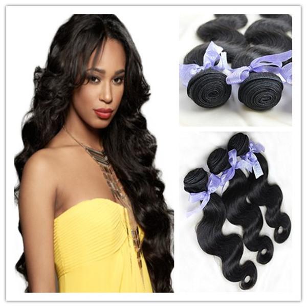 Natural black 6a grade Virgin russian hair body wave Russian virgin hair weaves russian body wave hair 3pcs lot