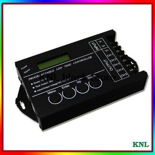Time programmable led controller, 5 channel led timing dimmer, led pc USB interface controller TC420, DC12-24V, free shipping(China (Mainland))