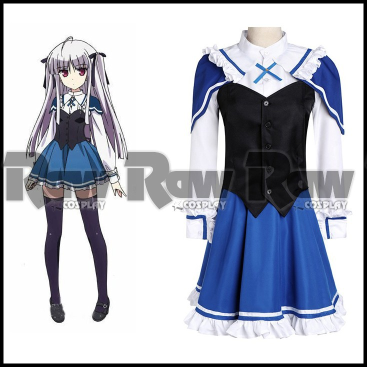 Custom-made Anime Absolute Duo Julie Sigtuna Cosplay Costumes Kouryou Academy women long sleeve Dress school uniform RAW0556(China (Mainland))