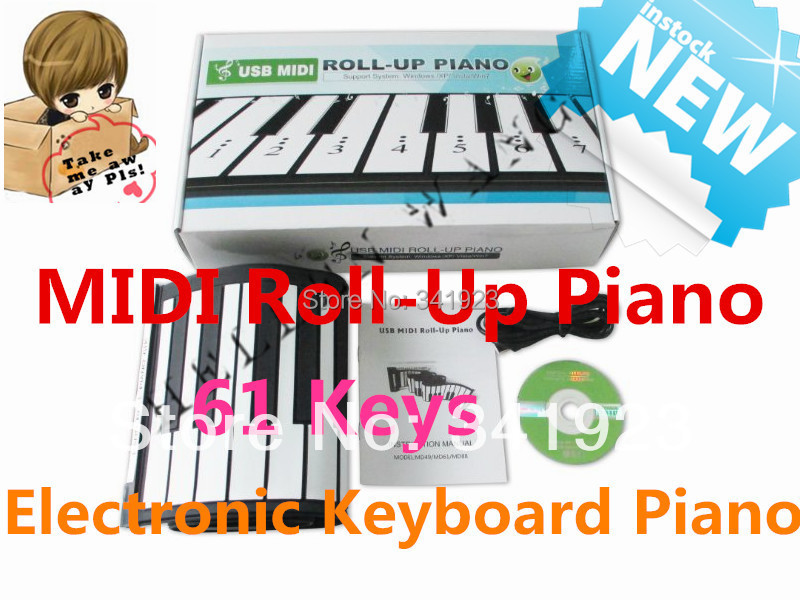 61 Keys 128 Demonstration Songs Electronic Piano Keyboard Midi Soft Roll Up Portable Flexible Music Keyboard Children's Day(China (Mainland))