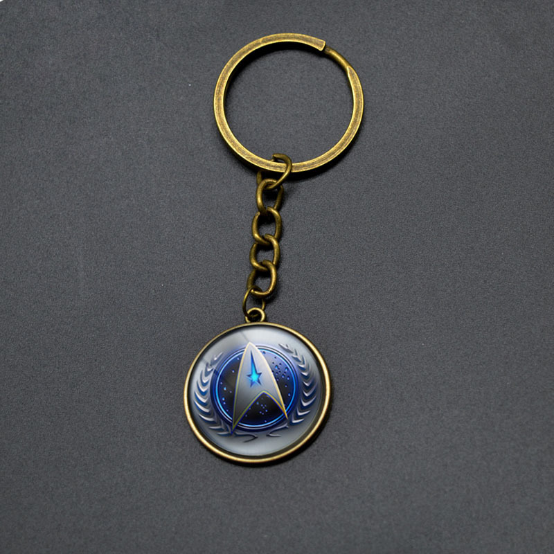 Starcraft Movies Fans Key Chains For Men Vintage STAR TREK Round Pendant Keychain Boy Girls Anime Jewelry Comics Key Rings Gifts(China (Mainland))