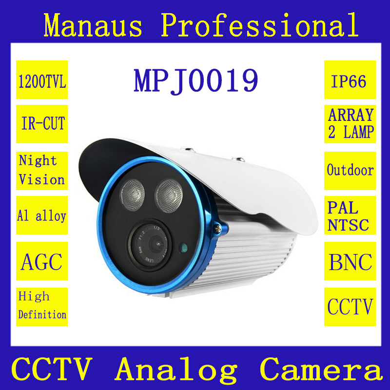 CCTV 1200TVL Double Array Infrared Lamps Surveillance Analog Camera Waterproof Security Camcorder Outdoor Indoor Wholesale J19b(China (Mainland))